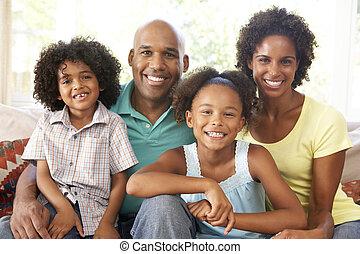 otthon, pamlag, bágyasztó, család, fiatal