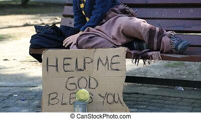 otthontalan, gyermek, fáradt, maradék