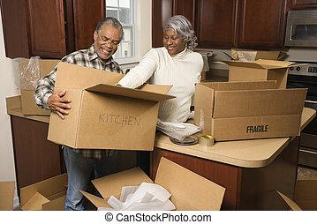 párosít, csomagolás, boxes.