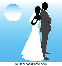 párosít, esküvő