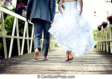 párosít, esküvő, gyönyörű