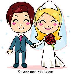párosít, házas, hatalom kezezés