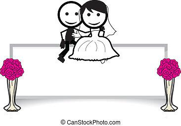 párosít, kitart becsül, esküvő