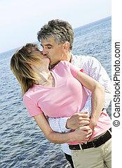 párosít, romantikus, érett