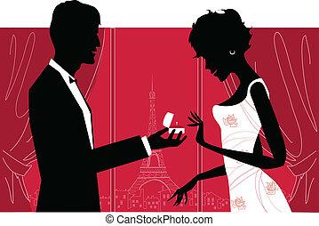 párosít, romantikus