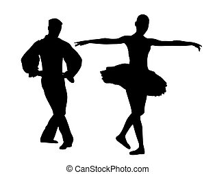 párosít, táncosok, balett