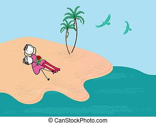 párosít, tengerpart