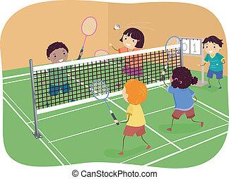 páros teniszben, tollaslabda