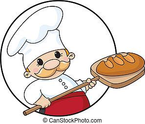 pék, karika, bread