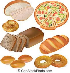 pékség, állhatatos, bread