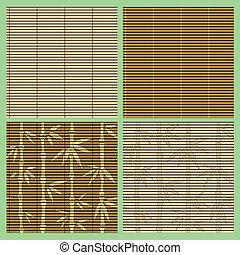 példa, bambusz, állhatatos, seamless