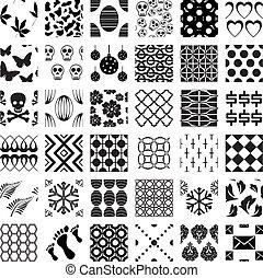 példa, geometriai, seamless, állhatatos, monochrom