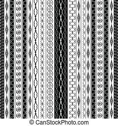 példa, geometric határ, fekete, fehér