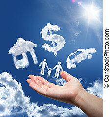 pénz, álmodik, autó, sky:, otthon