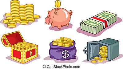 pénz, érmek, ikonok
