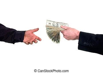 pénz, ösvény, készpénz