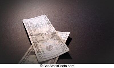 pénz, amerikai, esés