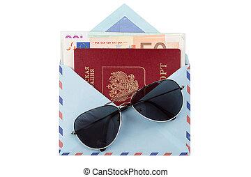 pénz boríték, útlevél
