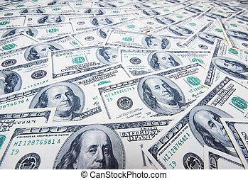 pénz, dollárok, kazal, háttér