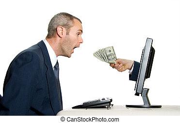 pénz, felfogó