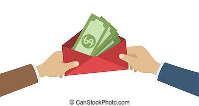 pénz., kézbesít