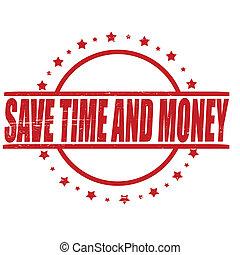 pénz, megment, idő