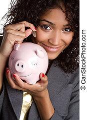 pénz, nő, megmentés