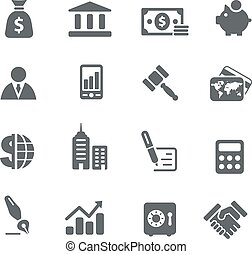 pénzel, ügy icons