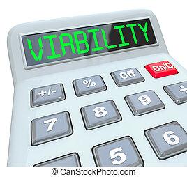 pénzel, ügy, sikeres, számológép, költségvetés, viability, terv, hadügyminisztérium