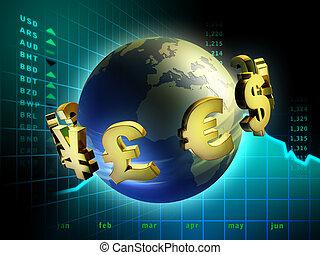pénznem, világ