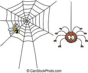 pók, karikatúra