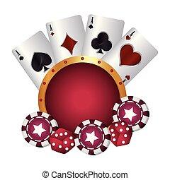 pókerzseton, kaszinó, kozkázik, illeszt, kártya