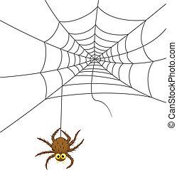 pókháló, karikatúra