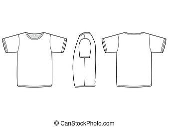póló, vektor, illustration., alapvető