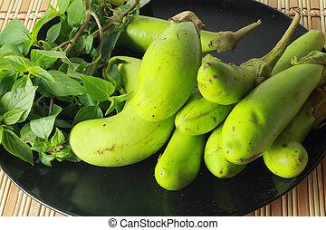 padlizsán, zöld növényi