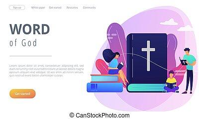 page., fogalom, jámbor, leszállás, biblia