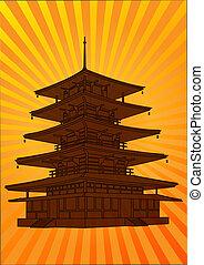pagoda, vektor