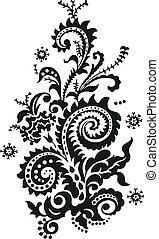 paisley, floral tervezés