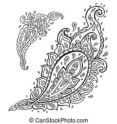 paisley., ornament., etnikai