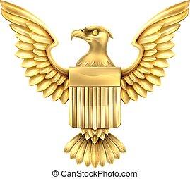 pajzs, arany, sas, amerikai