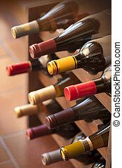 palack, állvány, bor