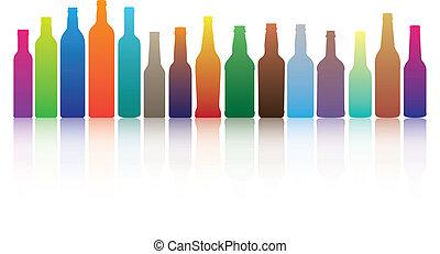 palack, színes