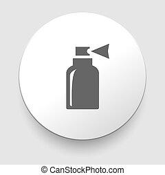 palack, vektor, elszigetelt, ábra, ikon