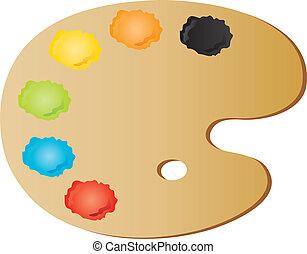 paletta, painter's