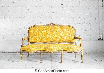 pamlag, retro, sárga