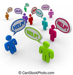 panama, kérdezés, beszéd, segítség, emberek