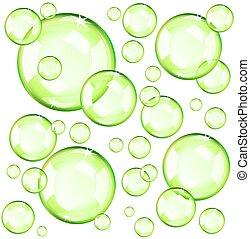 panama, zöld, áttetsző