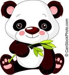 panda, móka, zoo.