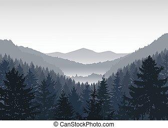 panoráma, hegy.