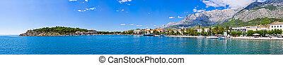 panoráma, makarska, horvátország